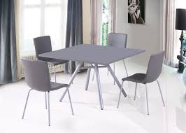 table et 4 chaises ensemble table et 4 chaises design gris wallace ensemble table et