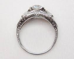 filigree engagement ring deco 1 89 ct diamond filigree ring diamond platinum filigree