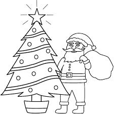 santa claus sketch coloring