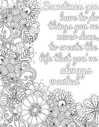 printable coloring quote pages for adults coloring pages for adults quotes 15856