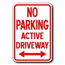 no parking sign ebay