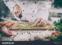 chef cooking food kitchen restaurant cutting stock photo 562219663