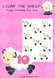 free early count sheep printable inspiration edit