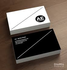 Minimal Design Business Cards York St Church Av Name Cards Diomioprint