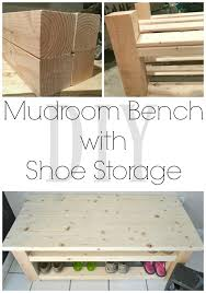 How To Build A Shoe Rack Bench Mudroom Bench With Shoe Storage I Am A Homemaker
