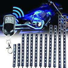 12pcs motorcycle led light kit multi color strips with
