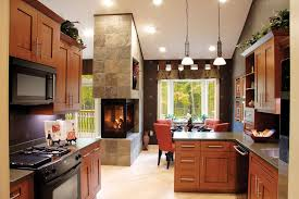 efficiency kitchen ideas sided fireplace designs for your living room