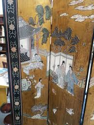 chinese room divider asian screen room divider vintage dollhouse folding screen