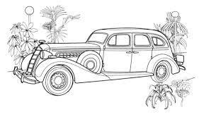 unique car antique car coloring