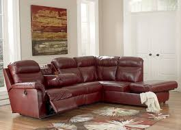 Leather Sectional Sofa With Power Recliner Red Leather Sectional Sofa With Recliners Centerfieldbar Com