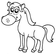 coloriage à imprimer un cheval turbulus jeux pour enfants