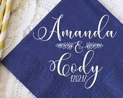 printed wedding napkins personalized wedding napkins etsy