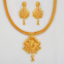 gold har set f necklace set alankrith