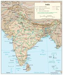 Maharashtra Blank Map by India Relief Map Maps Of India