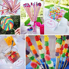 Kids Party Food Ideas Buffet by Great Candy Bar Idea Diy Kids Birthday Party Decoration Food