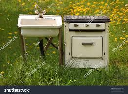 Kitchen Stove Knobs Old Rundown Kitchen Sink With Tap Stock Photo 53629420 Shutterstock