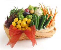 vegetarian gift basket the gift of fruit and veggies jolly tomato