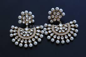 chandbali earrings large kundan chandbali earrings aristabeads jewelry