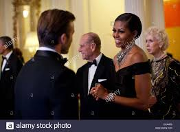 Queen Elizabeth Ii House Michelle Obama Greets Soccer Star David Beckham At A Dinner In
