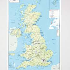 France Physical Map by Buy Uk Physical Map A1 Tts