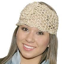 crocheted headbands crocheted headbands with flower glitter crocheted