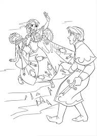 anna protecting elsa from the duke of weseltons thugs colouring