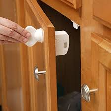 How To Install A Lock On A Cabinet Door Amazon Com Safety 1st Magnetic Locking System 1 Key And 8 Locks