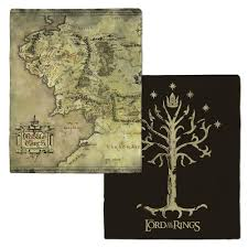 Map Of Mordor The Lord Of The Rings Middle Earth Map And Tree Of Gondor Fleece