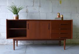 mid century modern styled teak credenza media stand u2013 circa60