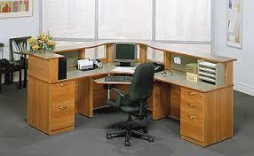 Custom Curved Laminate And Wood Reception Desk Bina Office