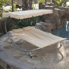 Replacement Hammock Bed Amazon Com Belleze Patio Steel Double Hammock Bed Moving Sun