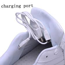 light up shoes charger usb charging led light up sport shoes flashing sneakers white