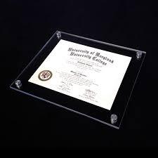 diploma framing vetro modern acrylic award frame aluma designs