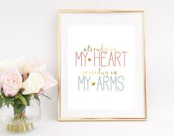 Prints Home Decor Already In My Heart Someday In My Arms Digital Print