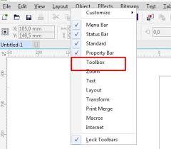 membuat gambar transparan di corel draw x7 cara menilkan toolbox corel draw x7 panduan grafis