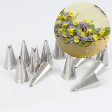 Cake Vase Set Aliexpress Com Buy 7pcs Stainless Steel Russian Leaf Icing