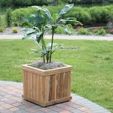 wood country square cedar wood nampa patio planter hayneedle