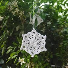 100 cotton handmade crochet snowflake ornaments white crochet