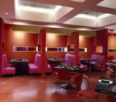 interior design restaurant decoration ideas nice pink color chair