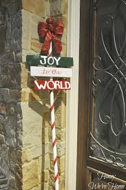 Diy Outdoor Lawn Christmas Decorations Christmas Craft Diy Outdoor Holiday Sign Honey We U0027re Home