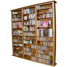 magnificent dvd shelves ideas with brown wooden tall storage and
