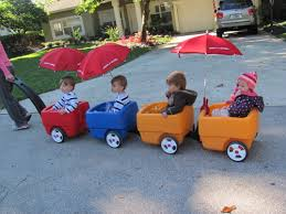 wagon baby great idea for multiples wagons with clip on umbrellas