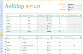 Excel List Templates Gift List Template For Excel 2013