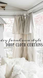 best 25 drop cloth curtains outdoor ideas on pinterest outdoor diy drop cloth curtains in the sunroom