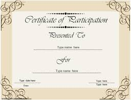participation certificate template premium basketball certificate