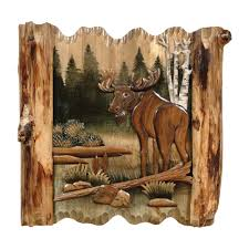 carved wooden wall pictures moose forest carved wood wall janet s board
