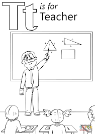 t is for teacher coloring page free printable coloring pages