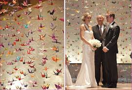 japanese wedding arches how to hang 1000 paper cranes s wedding book