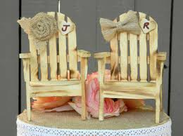 chair cake topper adirondack chair wedding cake toppers rustic wedding cake