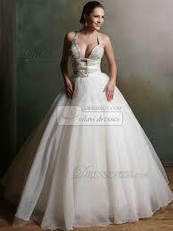 deep v neck ball gown tulle halter floor length cross straps